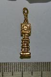 Подвеска металлическая золотистая Биг бен 6х26мм