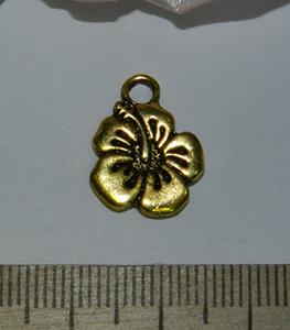 Подвеска металлическая золотистая Цветок 14х17мм