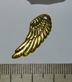 Подвеска металлическая золотистая Крыло 11х23мм