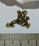 Подвеска металлическая золотистая Лягушка 17х17мм
