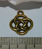 Подвеска металлическая золотистая Символ 16х18мм