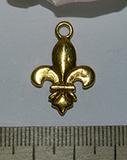 Подвеска металлическая золотистая Символ 16х24