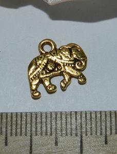 Подвеска металлическая золотистая Слон 12х14мм